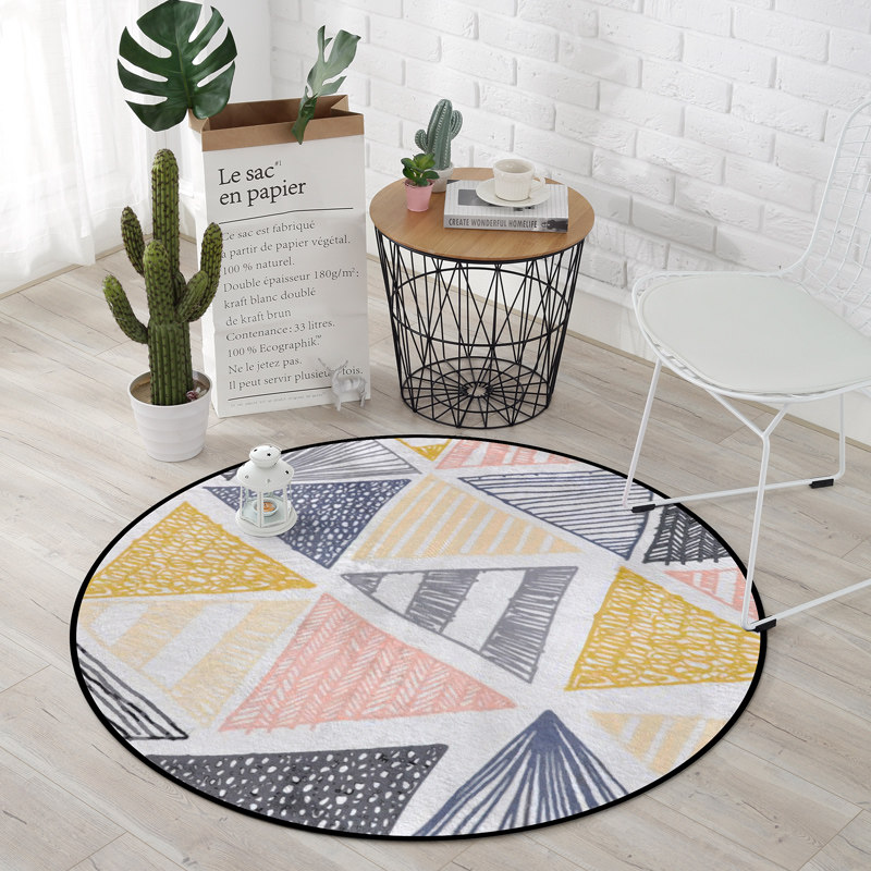 Europe Modern Round Carpets For Living Room Computer Chair Area Rug Home Entrance/Hallway Doormat Kids Play Tent Floor Mats