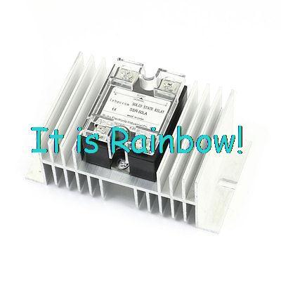 hot selling SSR-10LA/25LA/40LA/60LA 4-20mA to AC28-280V 50A Silver Tone Heatsink 1 Phase Solid State Relay Switch normally open single phase solid state relay ssr mgr 1 d48120 120a control dc ac 24 480v