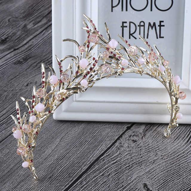 Baroque Crystal Tiara