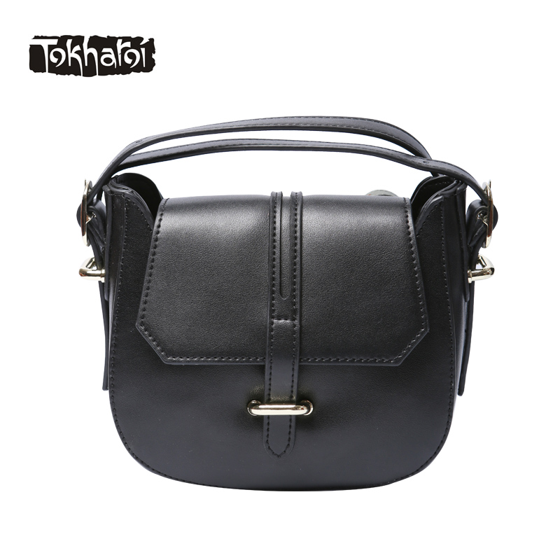 Tokharoi Brand Women Split Leather Bag High Quality Solid Flap Original Design Shoulder Bags Fashion Hasp Lock Purse Black Green