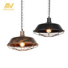 Loft Vintage industrial pendant light Led lamp for Restaurant/Cafe/Bar/Home Especial creative lamp Chain Pendant Lamp Black/Rust