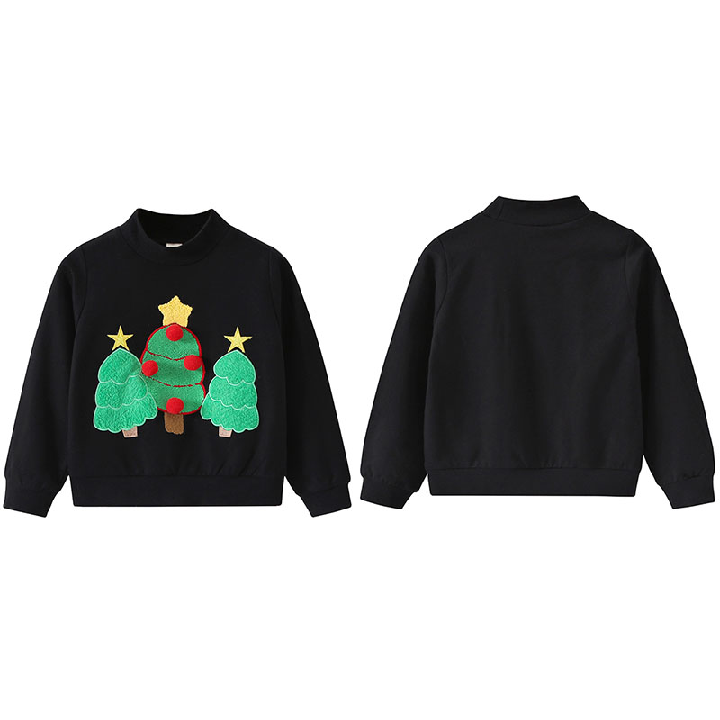 Kids Sweatshirts Boys Girls Christmas Embroidered Sweatshirts 2018 New Autumn Childrens Clothing Kids Casual Tops 1-11YKids Sweatshirts Boys Girls Christmas Embroidered Sweatshirts 2018 New Autumn Childrens Clothing Kids Casual Tops 1-11Y