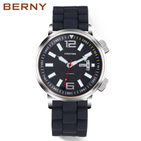 Automatic Mechanical Men Watch Sport Simple Luminous Hands Diver Swim Waterproof 20ATM Japan Movement Watches Relogio Mecanico