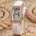 Women Bracelet Watch Sports Classic Wristwatch Casual Stylish Business Bracelet Roman Numbers Ladies Rectangle Rhinestone Gift