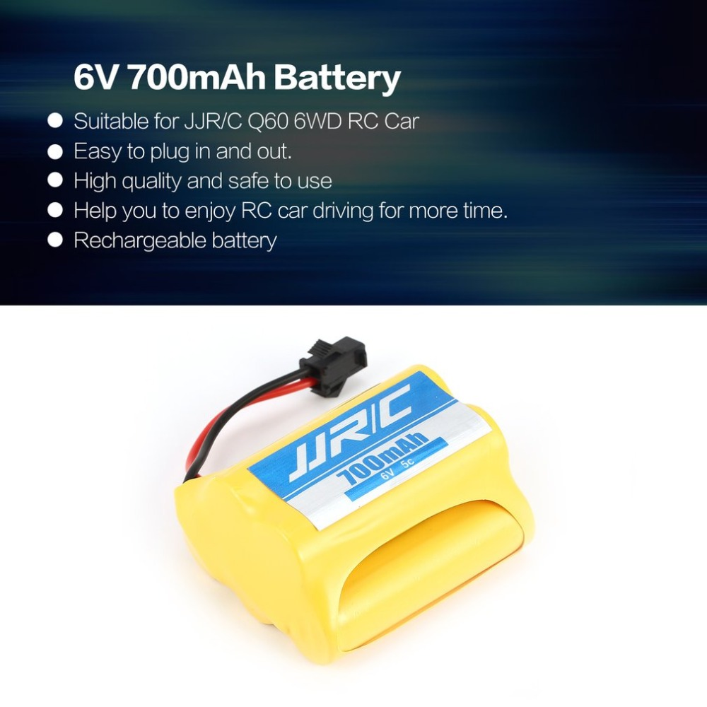 Original JJR/C Q60-15 6V 700mAh Rechargeable Battery for JJR/C Q60 6WD RC Car Vehicle Model Component Spare Parts Accessories fz 6v 1600mah vb power receiver battery for rc car model plane wholesale price dropship freeshipping
