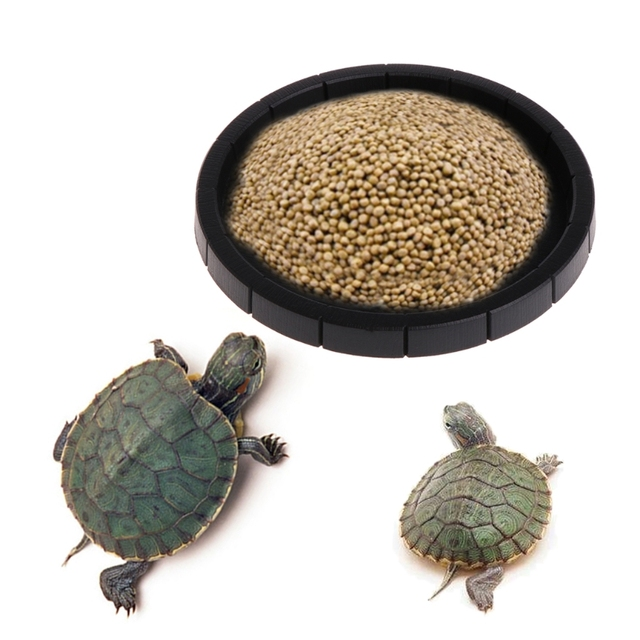 Round Shape Reptile Feeder Food Water Dish Bowl Basin Holder For Lizard Turtle