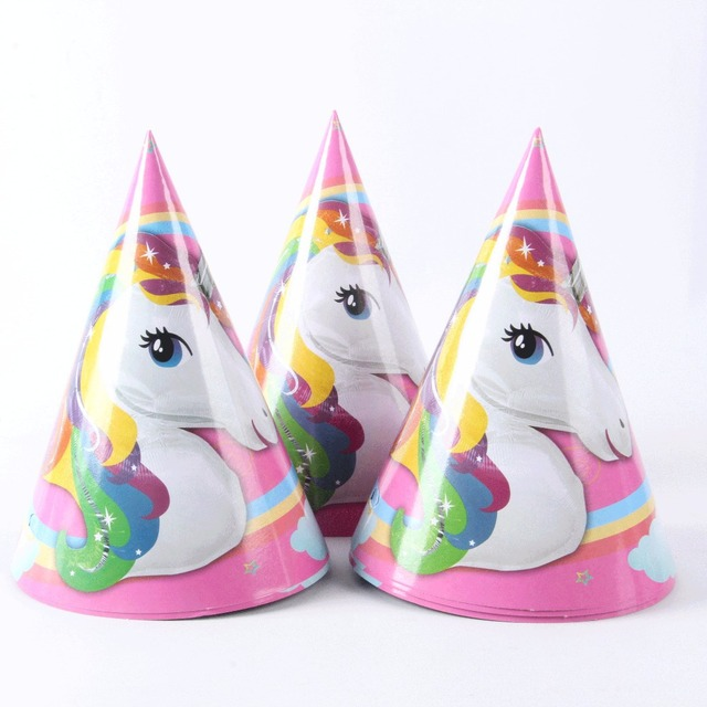 Unicorn Party Paper Hat Happy Birthday Party Decoration Supplies