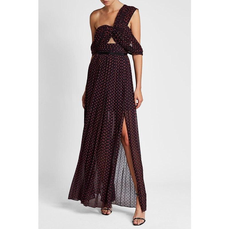 2018 Autumn new arrive dot long dress offer shoulder sexy women long dress backless
