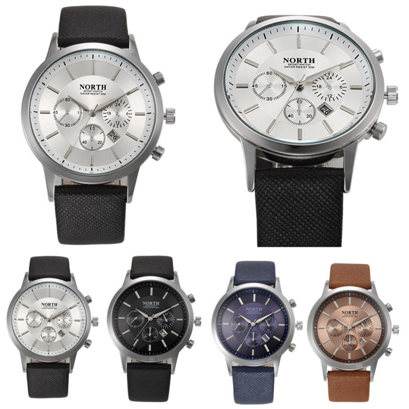 Durable Fashion watch font b men b font relogio masculino NORTH Sports Luxury font b Mens