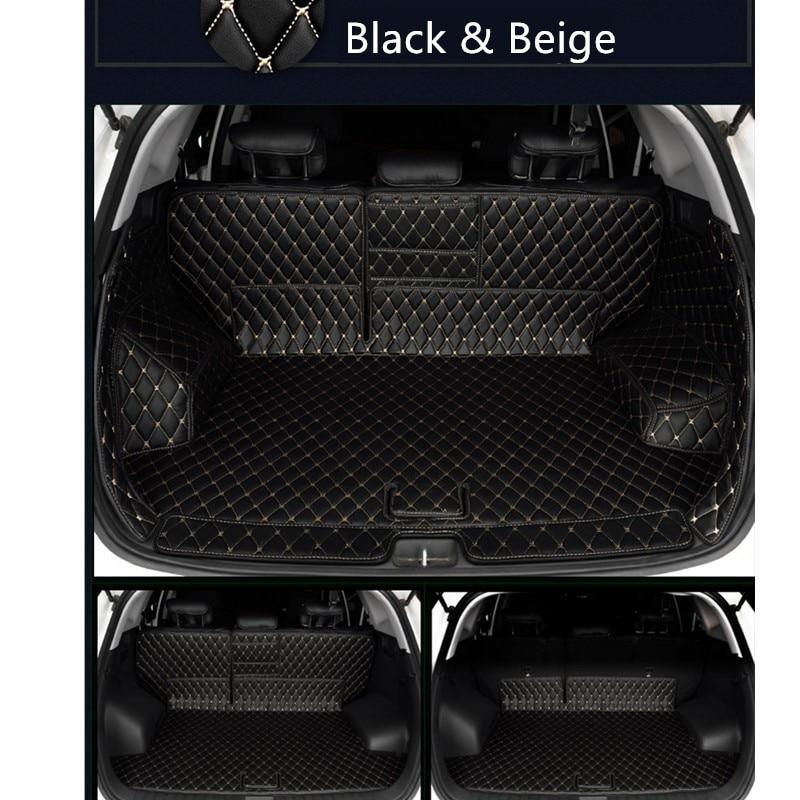 Pour HYUNDAI Tucson 2016 2017 2018 2019 voiture-style! Accessoires en cuir intérieur botte arrière coffre Cargo tapis Pad 1 ensemble