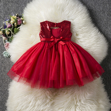 2019 Kids Baby Flower Girl Dress Sequins Tutu Princess Girls Clothes Little Ceremony Children Wear 1 to 5 Years