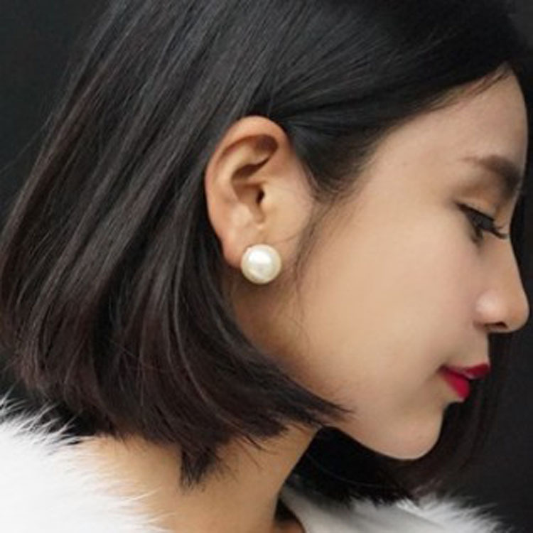 Alternative Novel Sided Large Small Fake Pearl Stud Earrings Can Be Wear Before And After Ear Pin Fashion Jewelry Whole In From