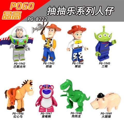 80 pcs Blocchi di costruzione Del Fumetto Anime Toy Story Buzz Lightyear Hudi Tracy Ham Pig Modello di Mattoni Per I Bambini Regalo Del Giocattolo PG8222-in Blocchi da Giocattoli e hobby su  Gruppo 1