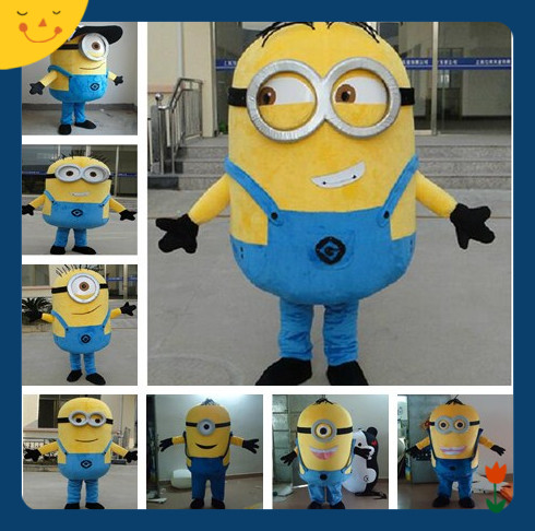 Hot Sale! Free Shipping,8 Styles, Despicable Minion Mascot Costume For Adults Despicable Mascot Costume