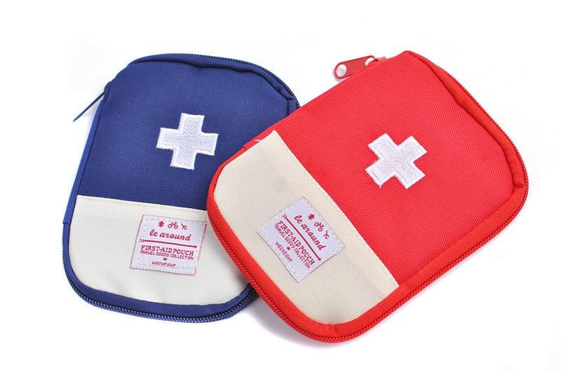 1pc 휴대용 야외 캠핑 가정 응급 처치 상자 응급 의료 - 집안에서의 조직 및 보관