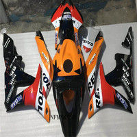 Motorcycle Black/Red ABS Plastic Kit for HONDA (100%fit) Injection Fairing CBR600RR 07 08 cool CBR600 RR 2007 2008 F5
