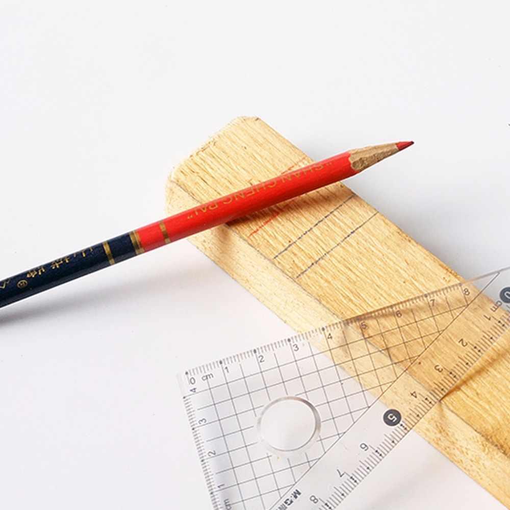 10 ピース/セット青と赤のワイヤーラウンド大工鉛筆木工コアマーカー