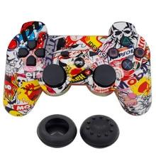 Blueloong doble de vibración inalámbrico sixaxis joystick game pad para playstation 3 ps3 playstation 3 dualshock 3 para la canción