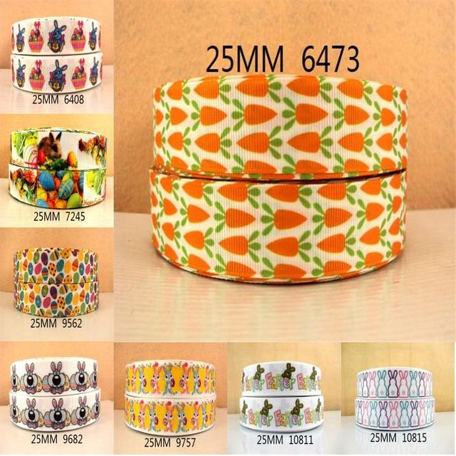 1''(25mm) happy easter egg printed ribbon Grosgrain ribbon,DIY handmade materials,wedding gift wrap,50Yc850