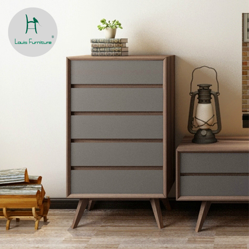 Storage Cabinets For Living Room: Louis Fashion Living Room Cabinets Nordic Modern Solid