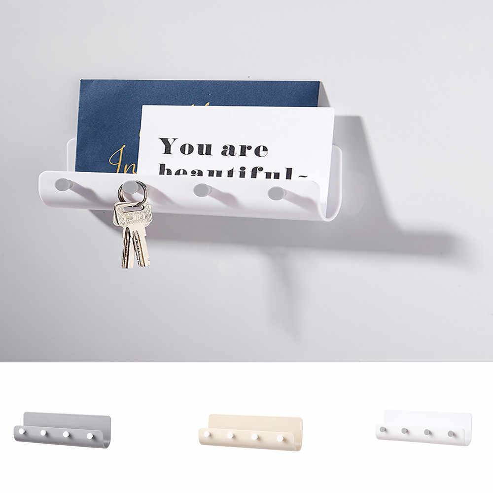 1pc hook Creative Multi-purpose practical durable white gray 21.5X4X7cm Key Hook Wall-mounted Storage Hook Home office storage
