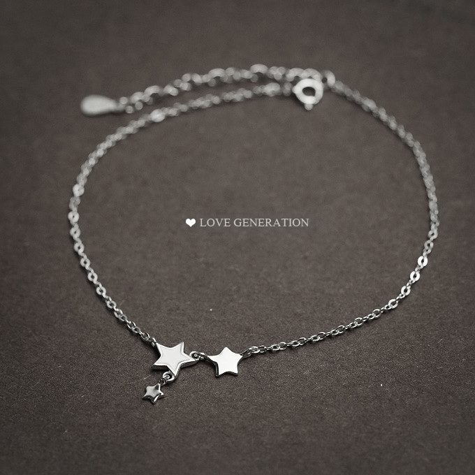 21cm 3cm famous brand Anklet Fine Jewelry Genuine 925 Sterling Silver Anklets Women Fashion Jewelry Anklet