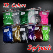 ICERIO 12 Colors Fly Tying Ultra Fine Ice Dub Fiber for Nymph Scud Streamers Fly Fishing Tying Material набор даббингов hareline trout ice dub
