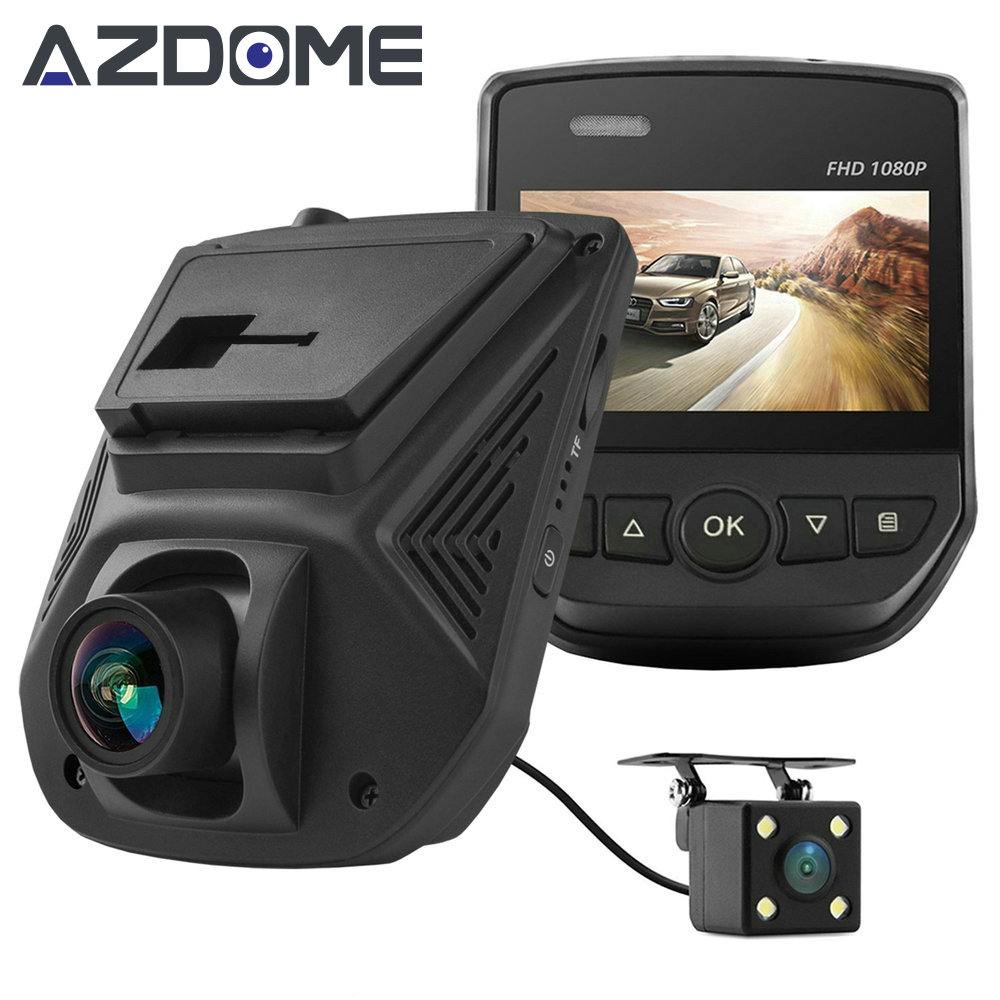 Azdome A305D FHD 1080P Car DVR Novatek 96658 Dual Lens LCD Screen Sony IMX323 Car Video Recorder Dash Cam With Rear Camera H51