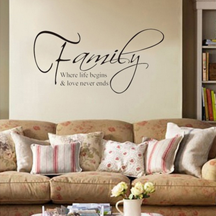 Family English Quote Children's Wall Stickers Living Room Tv Sofa Rhaliexpress: Family Wall Decals For Living Room At Home Improvement Advice