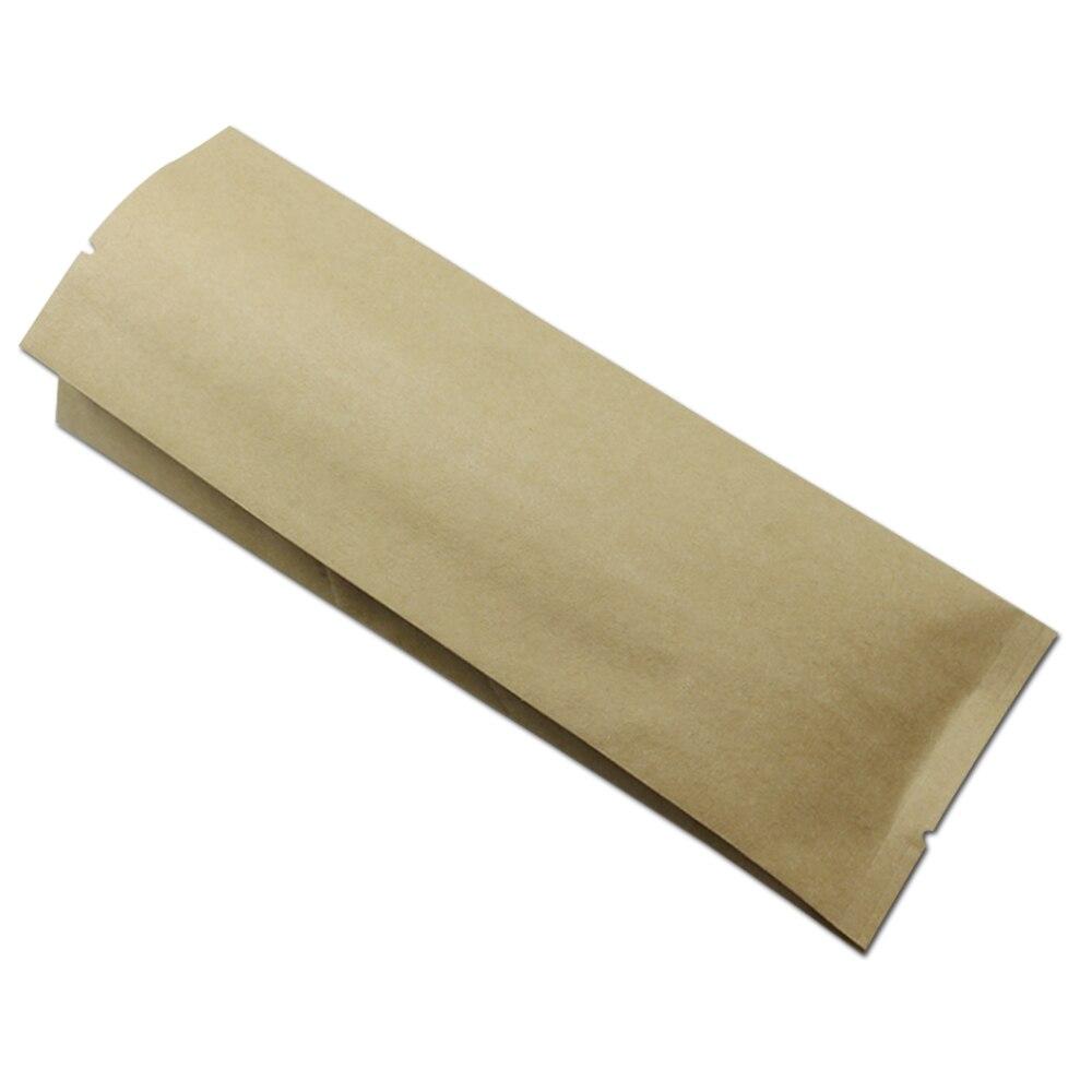 Алюминиевая фольга Открытый Топ органный мешок для кофе в зернах орехи закуска тепла запечатывания хранения крафт бумаги сильфоны Карманы пакет складной пакет