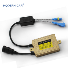 цена на MODERN CAR 1pcs 55W Gold Digital Slim Hid Ballasts For All Car Block Ignition Hid Xenon Electronic Ballast For H7 H4 H11 H13 H1