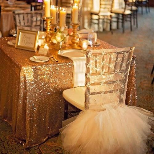 Горещи 48inx72in тъмно злато блестящ покривка за правоъгълник за сватба / парти / банкетна сватбена декорация (безплатен)