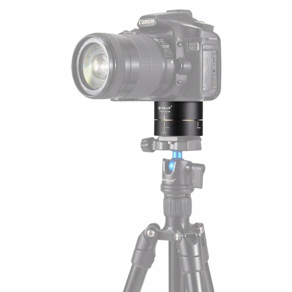 PULUZ Rotazione di 360 Gradi Panning 120 Minuti Stabilizzatore Lasso di Tempo Treppiede Adattatore Testa per DSLR Camera Tripod Testa
