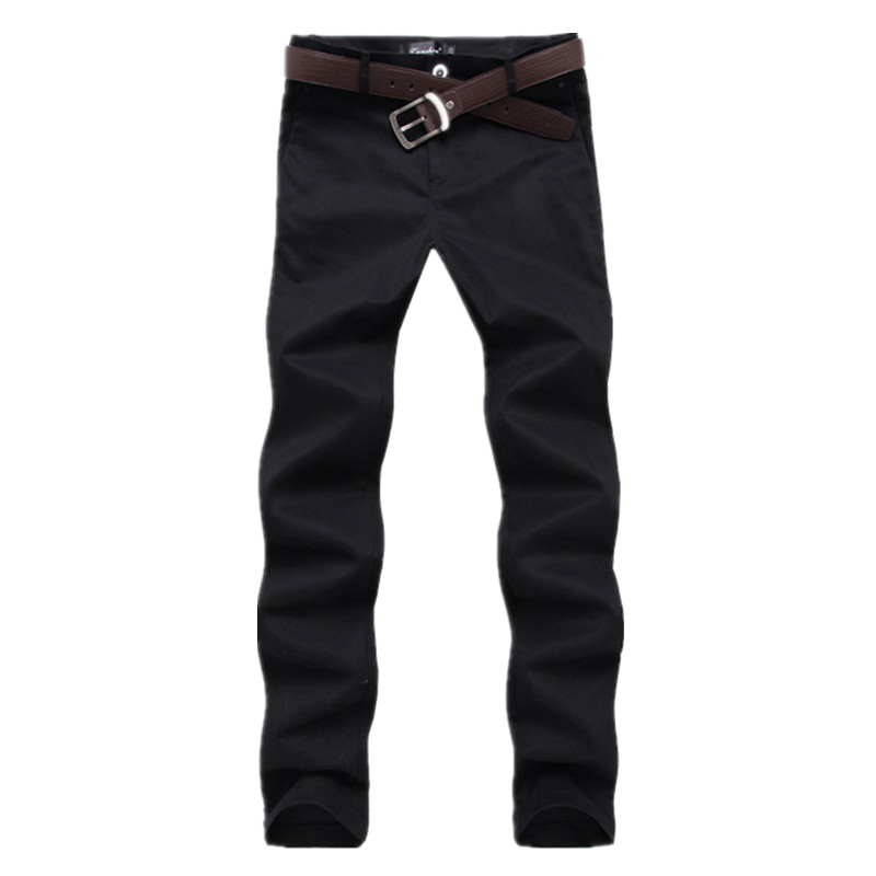 Twill Business Pants Men 2019 Men's Pure Cotton Slim Trousers Solid Khaki Black Casual Chino Pants Men No Belt-in Casual Pants from Men's Clothing on AliExpress - 11.11_Double 11_Singles' Day 1