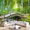 Small Bridge Water Bamboo Forest Photo Wall Paper Custom Garden TV Backdrop Large Murals 3d Mural