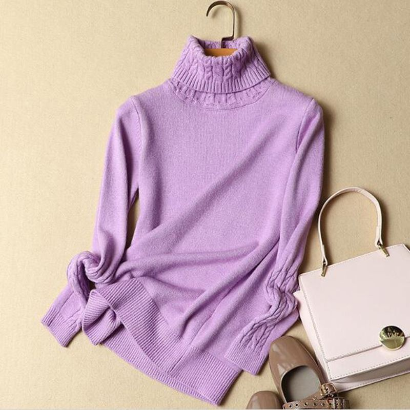 Hiking T-shirts High Quality Women Sweater New Turtleneck Pullover Winter Tops Solid Cashmere Sweater Autumn Female Knitted Sweater Hot Sale Products Hot Sale