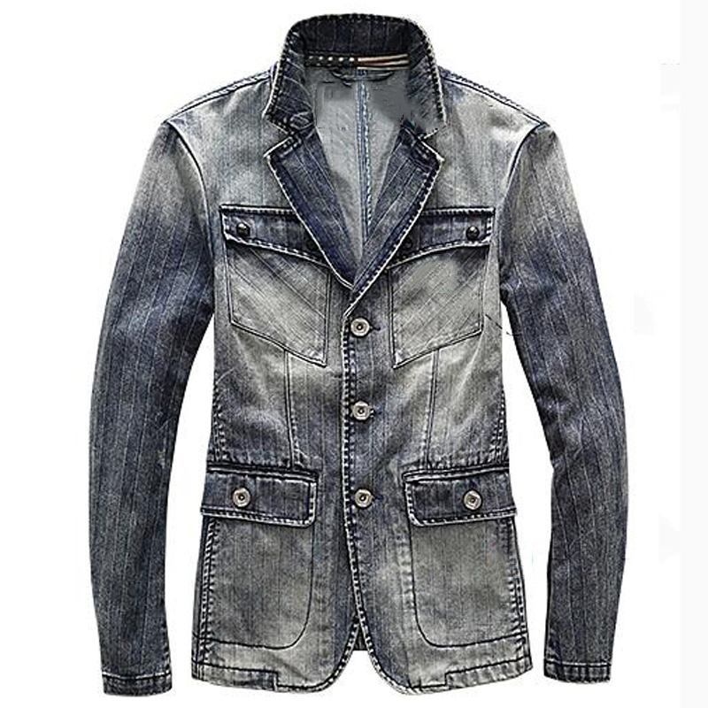 England Vintage Men 's Jean Jackets Brand Designer Big and ...