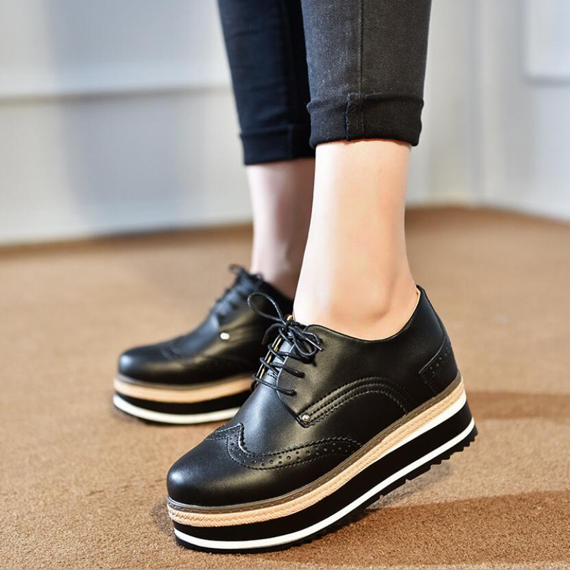 Zapatos con plataforma de piel auténtica para mujer a la moda, zapatos Punk góticos británicos, alpargatas, zapatos de mujer tallados Gdgydh, primavera Otoño, plataforma Sexy para mujer, zapatos de tacón alto grueso para mujer, zapatos de suela de goma negra para mujer, zapatos de plataforma de gamuza