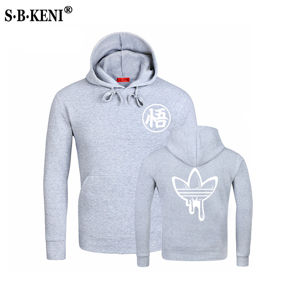 Personality fashionHip Hop mens hoodies Hip hop New Dragon Ball hoodie Anime Son Goku Cotton Men Hooded Sweatshirts in Hoodies amp Sweatshirts from Men 39 s Clothing