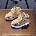 Дети Девочки Shoes 2017 Весна Осень Зима детские Кроссовки Мальчик Shoes Chaussure Enfant Hello Kitty Baby Shoes With LED свет
