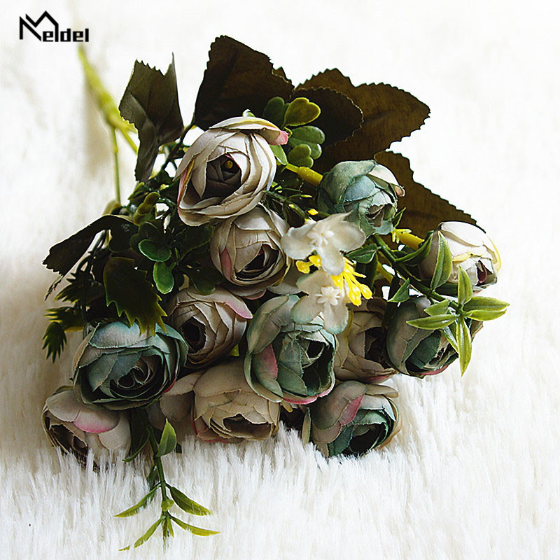 rose flowers artificial bouquet wedding fake flower (12)