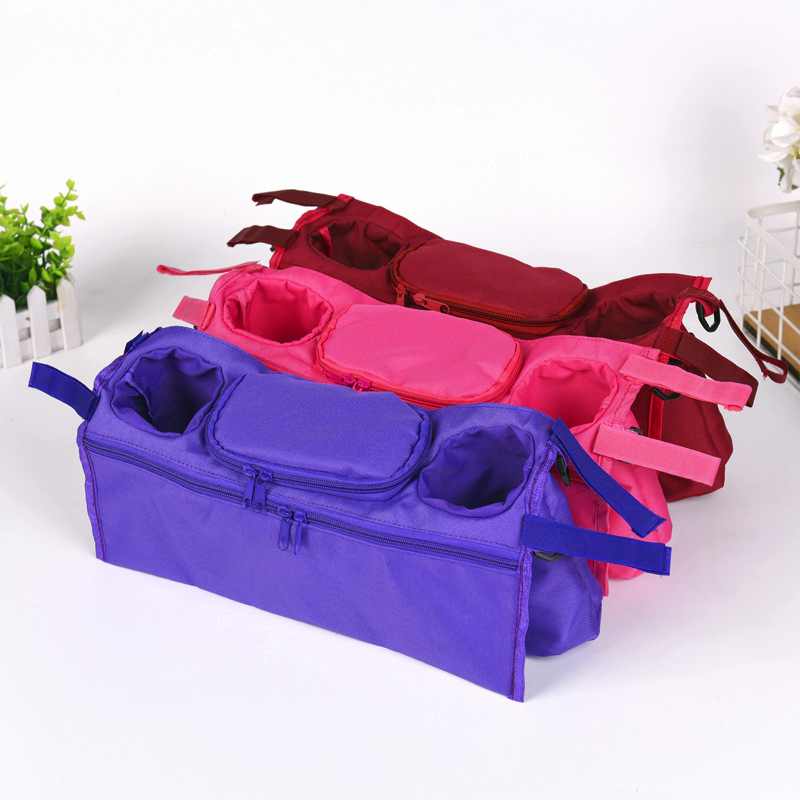 2017 New Arrival Cup Bag Stroller Organizer Baby Carriage Pram Buggy Cart Bottle Bag Car Bag Stroller Accessories