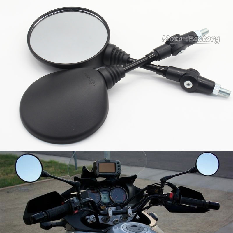 Custom Black Universal Folding Motorcycle Mirror motorbike Side Mirrors Rearview Mirror 8mm 10mm For yamaha Honda