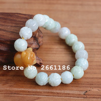 Natural Real Stone Bracelet Carved Lotus Pig Bracelet Single Lap Hand String Bangles Gift For Woman 's fashion Jades Jewelry