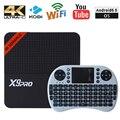 Caixa de TV Set-Top Box Amlogic X9PRO Kdoi S905X Quad Núcleo 64bits 1 GB de RAM 8 GB ROM Android 6.0 4 K x 2 K H.265 2.4 GHz WiFi Box TV X9 PRO