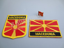 Patches Bordados Da Bandeira nacional e de Metal Pin de Lapela Bandeira MACEDÓNIA(China)