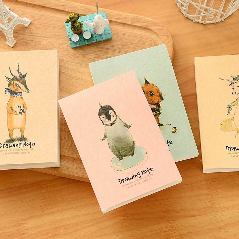 A6 drawing note Woodland friends notebook Diary book Pocket notepads Sketchbooks stationery office material School supplies 6838 rights of the game notebook gift diary note book agenda planner material escolar caderno office stationery supplies gt105
