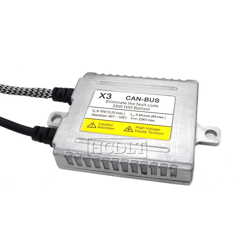 HCDLT AC 35W Xenon Canbus HID Ballast For Car Light Xenon HID Conversion Kit DLT X3 Canbus Error Free Digital Ballast Reactor (6)