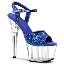 Sexy 15 cm high heel sandals, nightclub dancing pole shoes, sequined upper model high heel female, sandals 20cm sexy gladiator 8 inch high heel platforms pole dance performance star model sandals dancer shoes