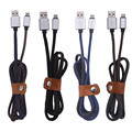 Новый Металл Джинсовая USB Кабель Зарядки Шнур 2.0 Заряжателя sync данным кабель для iPhone 5 5S 6 6 s plus ipad Шнур Питания